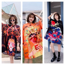 Dress Summer 2021 1,2,3 Average size singleton  Long sleeves street stand collar routine 31% (inclusive) - 50% (inclusive) other other