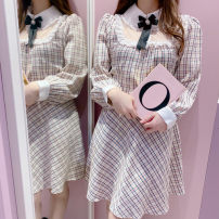 Dress Spring 2021 Pink,Cream Average size More than 95% other