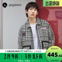 Jacket gxg.jeans Youth fashion Check pattern 165/S,170/M,175/L,180/XL,185/XXL routine standard Other leisure autumn JB121643E Wool 51.4% polyester 44.3% cotton 4.3% Long sleeves Lapel youth routine Zipper placket wool 50% (inclusive) - 69% (inclusive)