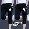 Casual pants Others Youth fashion routine Cropped Trousers Travel? easy summer teenagers tide 2020 middle-waisted Sports pants Three dimensional tailoring No iron treatment