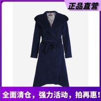 woolen coat Winter 2018 wool 95% and above SU4I51 Show long blue S,M,L,XL