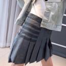 skirt Spring 2020 0, 1, 2, 3 grey Short skirt High waist Pleated skirt Type A 31% (inclusive) - 50% (inclusive) wool