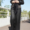 Casual pants As shown in the picture S,M,L,XL Winter 2020 trousers Wide leg pants original 96% and above silk