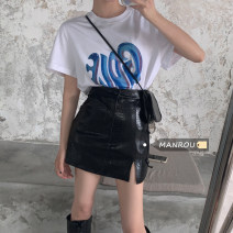 Fashion suit Summer 2021 S. M, average size White T-shirt, black T-shirt, small leather skirt 18-25 years old Other / other 51% (inclusive) - 70% (inclusive)