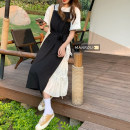 Dress Spring 2021 Black and white suspender skirt, white T-shirt S. M, average size Mid length dress Fake two pieces Sleeveless commute other High waist Solid color Socket A-line skirt other camisole 18-24 years old Type A Korean version Bow, tie 51% (inclusive) - 70% (inclusive) polyester fiber