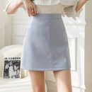 skirt Spring 2021 S,M,L,XL Apricot, blue, black Short skirt commute High waist skirt Solid color Type A 18-24 years old N2 24 Korean version