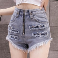 Jeans Summer 2021 Light blue, white, black S,M,L,XL shorts High waist routine 18-24 years old Worn, worn, washed, zipper, metal trim 4 15 Other / other 81% (inclusive) - 90% (inclusive)