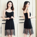 Vest sling Summer 2021 1175 black flower diamond love lace suspender skirt, 1175 white flower diamond love lace suspender skirt Average size (100kg-140kg) singleton  Medium length commute camisole Solid color 18-24 years old modal  Stitching, lace, hollowing out