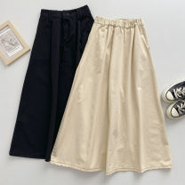 skirt Summer 2021 Average size Black, apricot Mid length dress commute High waist Solid color Type A 18-24 years old 51% (inclusive) - 70% (inclusive) pocket Korean version