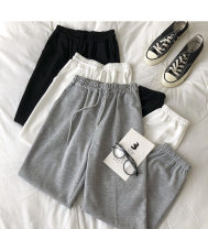 Casual pants Black, white, blue, purple, gray, pink Average size Spring 2021 Ninth pants Haren pants High waist commute routine 18-24 years old 51% (inclusive) - 70% (inclusive) Korean version pocket