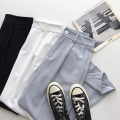 Casual pants Black, white, light blue S,M,L Summer 2021 trousers Haren pants High waist commute routine 18-24 years old 51% (inclusive) - 70% (inclusive) Korean version pocket