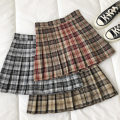 skirt Spring 2021 S,M,L Grey, red, brown Short skirt commute High waist lattice Type A 18-24 years old 51% (inclusive) - 70% (inclusive) fold Korean version