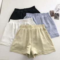 Casual pants Light green, black, white, blue S,M,L Summer 2021 shorts Wide leg pants High waist commute routine 18-24 years old 51% (inclusive) - 70% (inclusive) Korean version pocket