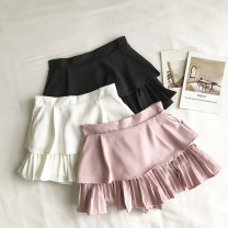 Casual pants White, black, pink S,M,L Summer 2020 shorts Wide leg pants High waist commute routine 18-24 years old 51% (inclusive) - 70% (inclusive) Korean version