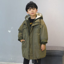 Down Jackets 120cm 130cm 140cm 150cm 160cm 80% White duck down male Kang Yier Black (inside yellow) army green (inside army green) Navy (inside Navy) See detailed description Medium length No detachable cap Zipper shirt Solid color Polyester 100% Polyester 100%