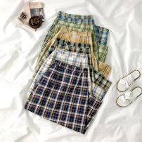 skirt Spring 2021 Average size Orange, Navy, coffee, white, blue, green Mid length dress commute High waist A-line skirt lattice Type A 18-24 years old 91% (inclusive) - 95% (inclusive) polyester fiber zipper Korean version