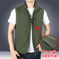 Vest / vest Fashion City Others M (100-120 Jin), l (120-140 Jin), XL (140-160 Jin), 2XL (160-175 Jin), 3XL (175-195 Jin), 4XL (195-210 Jin), 5XL (210-225 Jin), 6xl (225-240 Jin) Home standard Vest routine spring stand collar middle age 2021 Military brigade of tooling 1906+2006 Solid color zipper