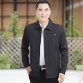Jacket Mengchen official Fashion City routine standard go to work spring Polyester 100% Long sleeves Wear out Lapel Business Casual middle age routine Zipper placket 2020 Cloth hem Closing sleeve Solid color polyester fiber More than two bags) Thread embedding and bag digging other