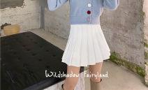 skirt Winter 2020 S. M, l, plus V: koz226 first order minus 10 white Short skirt commute High waist Pleated skirt Solid color Type A polyester fiber Button