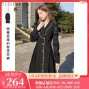 Dress Spring 2021 black 170/92A/XL,165/88A/L,175/96A/XXL,155/80A/S,160/84A/M Mid length dress singleton  Long sleeves commute other Loose waist Single breasted A-line skirt bishop sleeve 25-29 years old Type X Tricolor Simplicity Stitching, nail bead D361X5003L00 81% (inclusive) - 90% (inclusive)