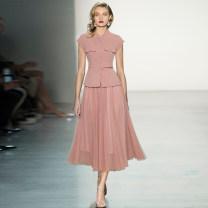 Fashion suit Spring 2021 S,M,L,XL Pink, yellow tkliuhiuyfkjgjytjl712 96% and above polyester fiber