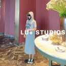 Dress Spring 2021 Gray, black, white M, L longuette Short sleeve square neck other 25-29 years old L201416002