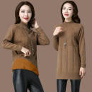 sweater Winter 2017 S M L XL 2XL 3XL 4XL 5XL 6XL Caramel yellow camel red black dark green Long sleeve Long section Sleeve Thicken Single Half high collar conventional Straight Commuting 08 # Pure color wool 51% (inclusive) -70% (inclusive) Conventional wool Warm and heat MuXiang velvet wool flannel