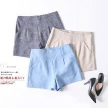 Casual pants S,M,L,XL,2XL Spring 2020 shorts Straight pants Natural waist commute routine 31% (inclusive) - 50% (inclusive) Ol style hemp