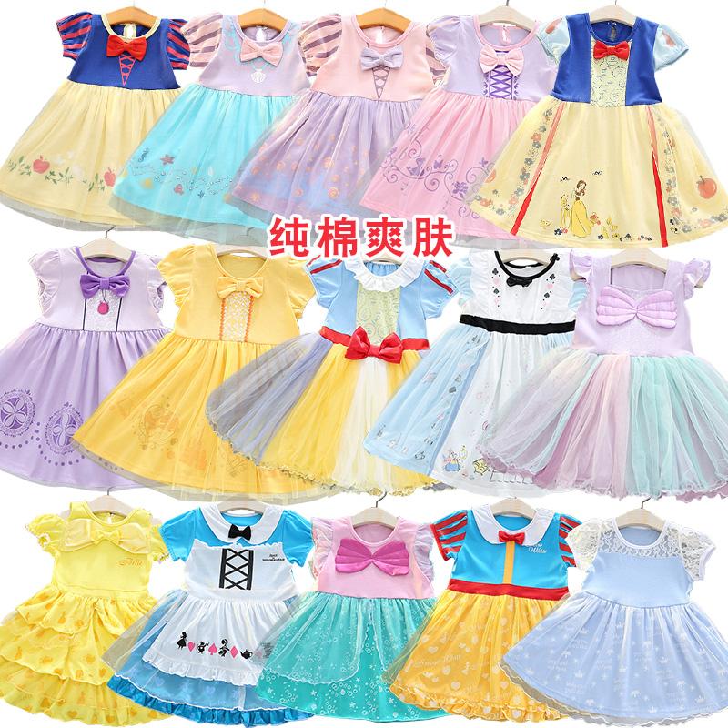 Dress Other / other female 110cm (less than 1 yard) 120cm (less than 1 yard) 130cm (less than 1 yard) 90cm 100cm Cotton 100% summer princess Short sleeve Cartoon animation cotton