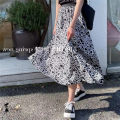 skirt Spring 2021 S,M,L Picture color Mid length dress street Natural waist A-line skirt Type A Europe and America