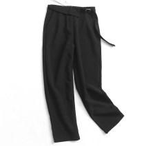 Casual pants black S,M,L Spring 2020 trousers High waist Versatile routine 51% (inclusive) - 70% (inclusive) 055-041 polyester fiber