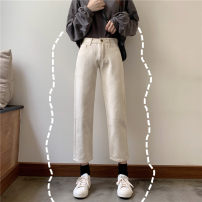 Jeans Winter of 2019 XXS,XS,S,M,L Ninth pants Pencil pants 18-24 years old Other / other