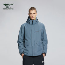 Jacket Septwolves Fashion City 001 (black), 009 (blue gray) 165/88A,170/92A,175/96A,180/100A,185/104A,190/108A easy Other leisure autumn 1H1A70106542 Polyester 100% Long sleeves Detachable cap Basic public youth routine Zipper placket