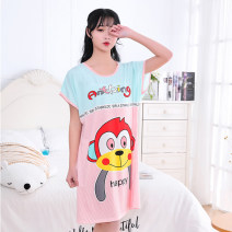 Nightdress Other / other M 80-110 Jin (loose version), l 110-125 Jin (loose version), XL 125-140 Jin (loose version), 2XL 140-155 Jin (collect and deliver first), 3XL 155-180 Jin (lose money and gain popularity) Cartoon Short sleeve pajamas Middle-skirt summer Cartoon animation youth Crew neck