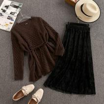 Fashion suit Winter 2020 S,M,L Coffee + black, green + coffee, coffee + coffee, green + Black 18-25 years old