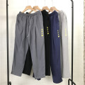 Casual pants Others Youth fashion Light grey, dark grey, black, navy M,L,XL,2XL,3XL,4XL,5XL thin Ninth pants Other leisure easy No bullet spring teenagers Chinese style 2021 Straight cylinder Sports pants Solid color cotton cotton