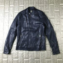 leather clothing Others Youth fashion Navy Blue M,XL,2XL have cash less than that is registered in the accounts Imitation leather clothes stand collar Slim fit zipper spring leisure time teenagers tide 19B4