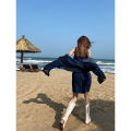 Dress Summer 2021 blue Average size Middle-skirt Two piece set street other Solid color other routine 18-24 years old JASUMMER 31% (inclusive) - 50% (inclusive) other Europe and America