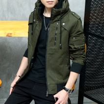 Jacket Other / other Youth fashion M,L,XL,2XL,3XL,4XL,5XL routine Self cultivation Other leisure winter Cotton 96.5% polyester 3.5% Long sleeves Wear out High collar Youthful vigor youth routine Zipper placket 2019 Rib hem washing Loose cuff Solid color Denim More than two bags) cotton More than 95%