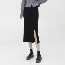 skirt Spring 2021 Average size black Mid length dress commute High waist A-line skirt 905de 31% (inclusive) - 50% (inclusive) Other / other Viscose Korean version