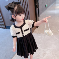 Dress Lace skirt female Other / other 80cm,90cm,100cm,110cm,120cm,130cm Other 100% summer Korean version Short sleeve lattice other Splicing style 7 years old, 12 months old, 3 years old, 6 years old, 18 months old, 9 months old, 6 months old, 2 years old, 5 years old, 4 years old Chinese Mainland