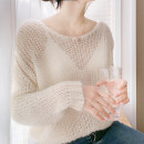 Wool knitwear Spring 2020 M, L White, pink Long sleeves singleton  Socket wool 31% (inclusive) - 50% (inclusive) Regular ultrathin commute easy V-neck routine Solid color Socket Korean version