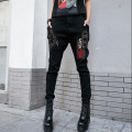 Casual pants black S,M,L,XL Autumn of 2018 trousers Pencil pants Natural waist street routine 96% and above K88 Yike people cotton pocket cotton Europe and America