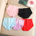underpants female Other / other 1 cotton Briefs High waist Simplicity Solid color More than 95% Cotton fabric The abdomen