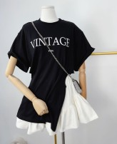 T-shirt Black T spot, white t spot, gray t spot, white skirt spot S,M,L Spring 2021 Short sleeve easy Medium length other commute cotton 31% (inclusive) - 50% (inclusive) 25-29 years old other letter