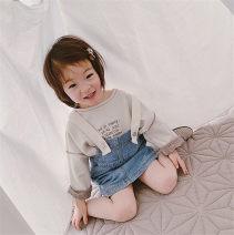 Dress blue female Maidou story 7 (recommended height 95-100cm), 9 (recommended height 100-105cm), 11 (recommended height 105-115cm), 13 (recommended height 115-120cm), 15 (recommended height 120-130cm) Other 100% summer Korean version Strapless skirt Solid color Denim A-line skirt Class B