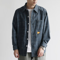 shirt Youth fashion Others M,L,XL,2XL Blue, dark grey routine Pointed collar (regular) Long sleeves standard daily autumn C965-S097 youth Cotton 90% polyethylene terephthalate (polyester) 10% Japanese Retro 2019 lattice Sanding cotton 90% (inclusive) - 95% (inclusive)