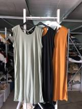 Dress Summer of 2018 Army green light blue black orange Average size Mid length dress Sleeveless Crew neck other 18-24 years old