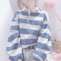 Sweater / sweater Autumn of 2018 Blue grey Average size Long sleeves Other / other
