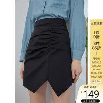 Casual pants black XS,S,M,L,XL Spring 2021 shorts Wide leg pants High waist Versatile routine 25-29 years old 51% (inclusive) - 70% (inclusive) Z210235 Van schlan other fold cotton Asymmetry